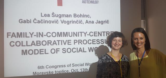 Predstavitev projekta in njegovih rezultatov na 6. Kongresu socialnega dela